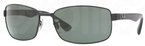 Ray Ban RB3478 Black with Polarized Crystal Green Lenses