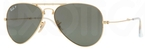 Ray Ban RB3479 Folding Wayfarer Arista Gold with Polarized Crystal Green Lenses