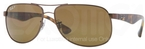 Ray Ban RB3502 Brown with Polarized Crystal Brown Lenses