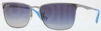 Ray Ban RB3508 Gunmetal with Gradient Blue Lenses