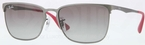 Ray Ban RB3508 Matte Gunmetal with Gradient Grey Lenses