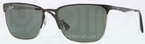 Ray Ban RB3508 Top Black on Silver with Green Lenses