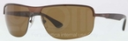 Ray Ban RB3510 Matte Brown with Polarized Brown Lenses