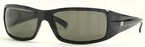 Ray Ban RB4057 Black with Polarized Crystal Green Lenses