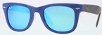 Ray Ban RB4105 Matte Blue with Crystal Green/Blue Mirror Lenses