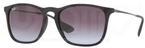 Ray Ban RB4187 Rubber Black with Grey Gradient Lenses