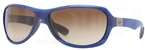 Ray Ban RB4189 Shiny Blue with Brown Gradient Lenses