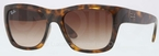 Ray Ban RB4194 Light Havana with Gradient Brown Lenses
