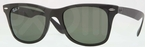 Ray Ban RB4195 Matte Black with Polarized Green Lenses