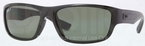 Ray Ban RB4196 Black with Polarized Green Lenses