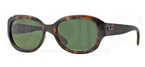Ray Ban RB4198 Light Havana w/Crystal Green Lenses