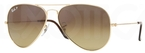 Ray Ban RB8041 Arista Gold with Polarized Crystal Brown Gradient Lenses
