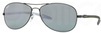 Ray Ban RB8301 Black with Crystal Grey Mirror Lenses