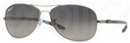 Ray Ban RB8301 Matte Gunmetal with Polarized Crystal Grey/Silver Mirror Lenses