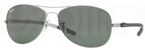 Ray Ban RB8301 Shiny Gunmetal with Green Lenses