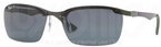 Ray Ban RB8312 Dark Carbon-Green Rubber with Polarized Grey Lenses