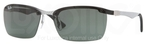 Ray Ban RB8312 Light Carbon-Black Rubber with Green Lenses
