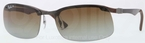 Ray Ban RB8314 Dark Carbon-Rubber Brown with Polarized Brown Gradient Lenses