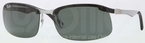 Ray Ban RB8314 Light Carbon-Rubber Black with Green Lenses