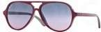 Ray Ban Junior RJ9049S Top Red On Gray w/ Blue Lenses