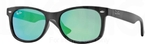 Ray Ban Junior RJ9052S Matte Black w/ Light Green Mirror Green Lenses