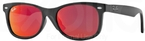 Ray Ban Junior RJ9052S Matte Black w/ Red Multilayer Lenses