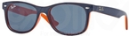 Ray Ban Junior RJ9052S TOP BLUE ON ORANGE w/ Blue Lenses