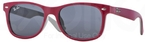 Ray Ban Junior RJ9052S TOP RED FUXIA ON GRAY w/ Grey Lenses