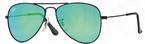 Ray Ban Junior RJ9506S Matte Black w/ Light Green Mirror Green Lenses