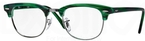 Ray Ban Glasses RX5154 Clubmaster Matte Stripped Green