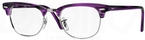 Ray Ban Glasses RX5154 Clubmaster Matte Stripped Violet