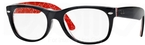 Ray Ban Glasses RX5184 Top Black On Texture Red