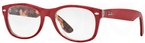 Ray Ban Glasses RX5184 Top Matte Red On Texture