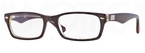 Ray Ban Glasses RX5206 TOP RED ON TRASPARENT BEIGE