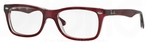 Ray Ban Glasses RX5228 Dark Red On Transparent