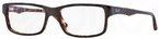 Ray Ban Glasses RX5245 Top Brown on Havana