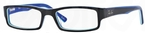 Ray Ban Glasses RX5246 Black/Azure/White/Azure/Blue