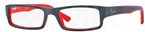 Ray Ban Glasses RX5246 Top Grey on Matte Red