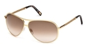 Tod's TO0008 Shiny Rose Gold with Gradient Brown Lenses