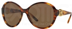 Versace VE4261 Striped Havana w/ Brown Lenses