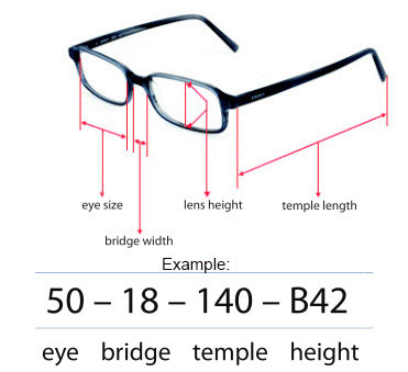 Understanding Glasses Frame Measurements : Ermenegildo Zegna SZ 3589M 700P Black Grey POLARIZED RARE ...